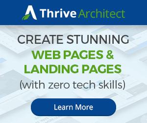 Thrive Architect Banner